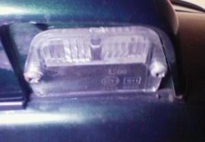 ローバーミニ・ライセンス灯