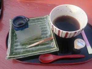 月ヶ瀬の茶屋にて